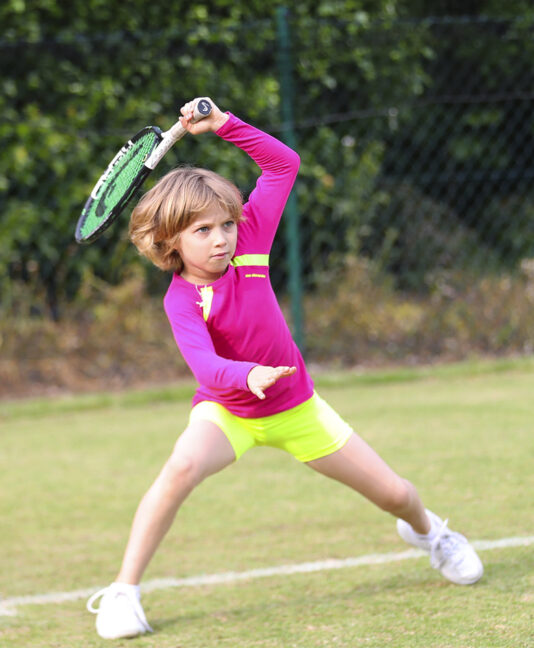 Girls Tennis Shorts Performance Neon jessica training top zoe alexander uk
