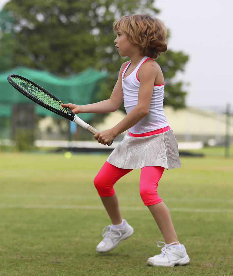 white bella tennis dress zoe alexander racerback