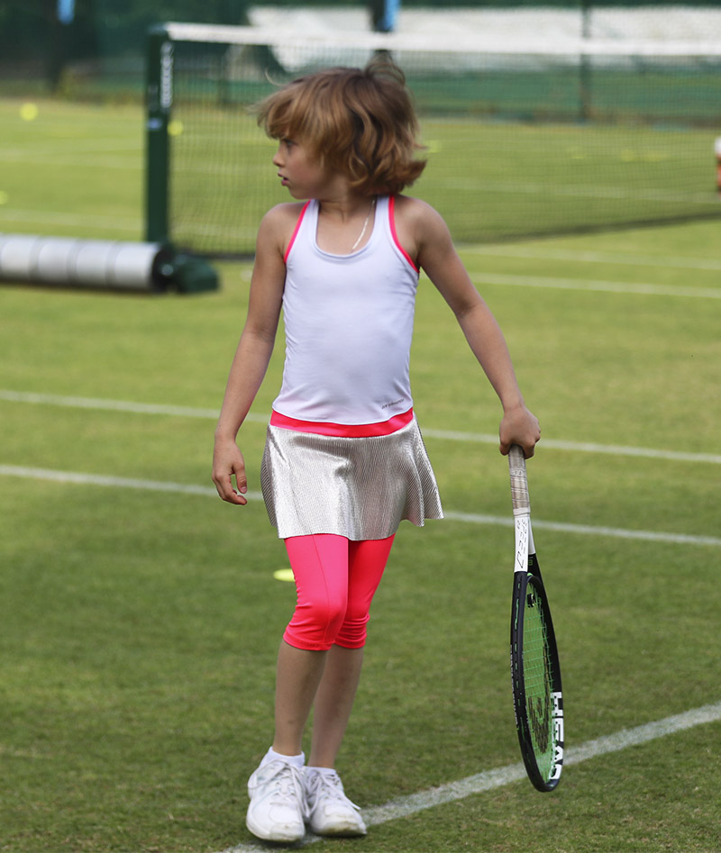 white bella tennis dress zoe alexander racerback