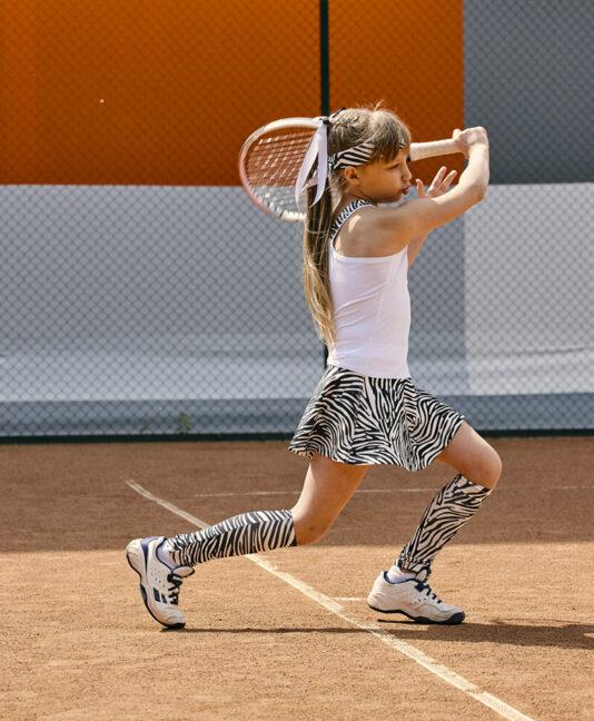 girls white tennis dress zebra zoe alexander uk vika