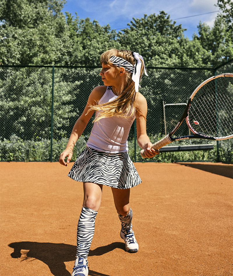 girls white tennis dress zebra vika zoe alexander uk