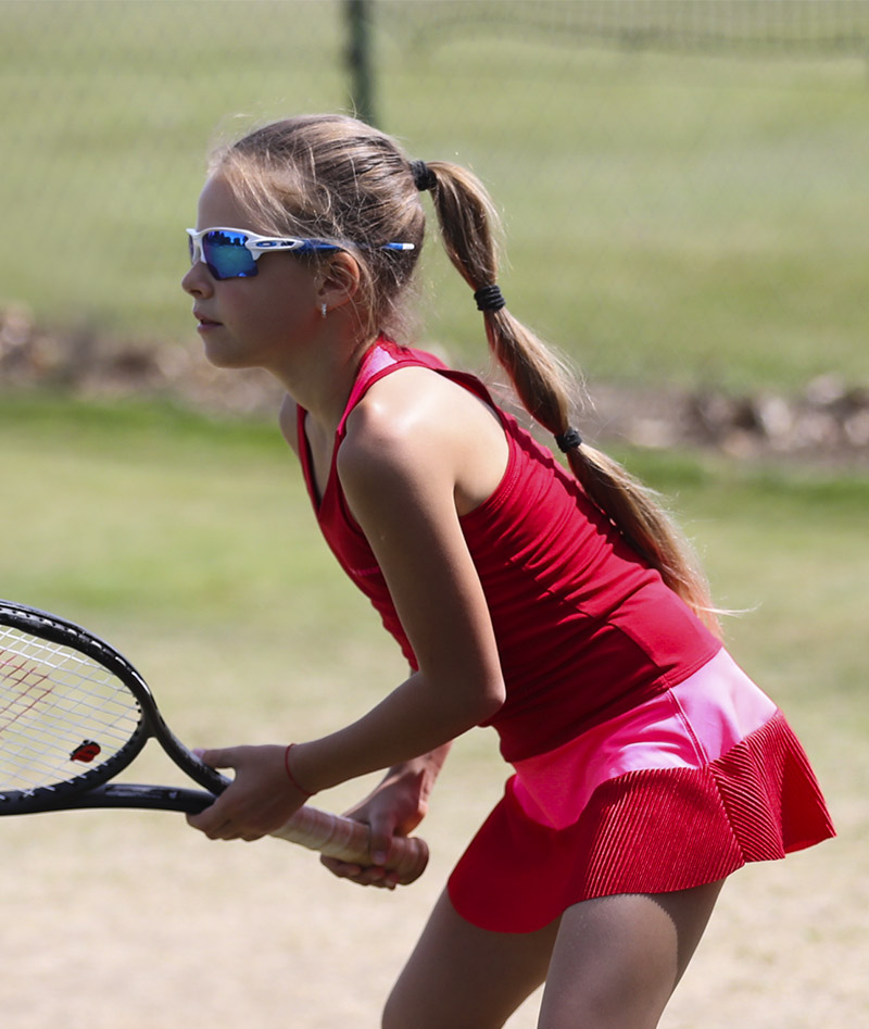 SOPHIA TENNIS CLOTHES GIRLS ZOE ALEXANDER UK BELINDA RED DRESS ZA 800 A96I4357