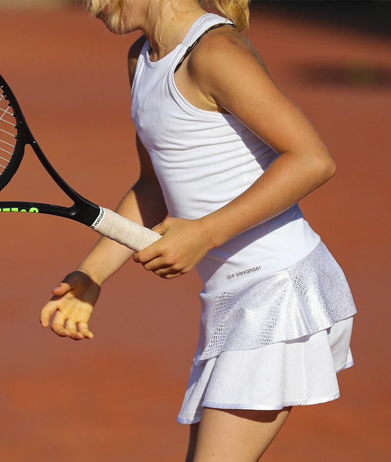 ABIGAIL TENNIS DRESS GIRLS WHITE ZOE ALEXANDER UK ZA 3
