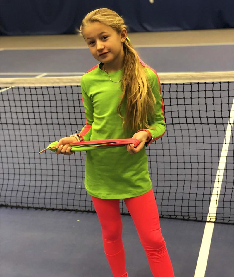 kaia green girls tennis training top zoe alexander uk