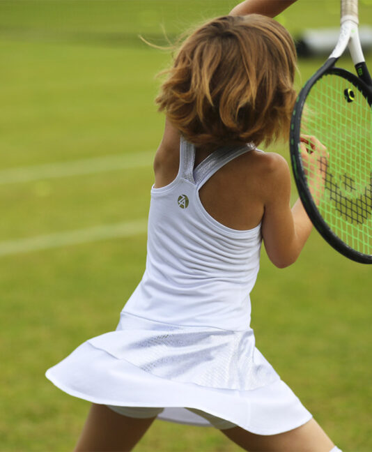 abigail girls white tennis dress zoe alexander uk