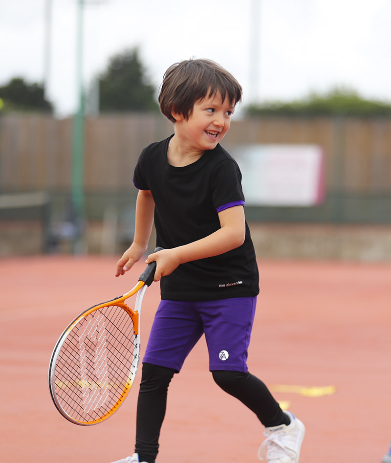 boys tennis outfit rafael black purple violet zoe alexander uk