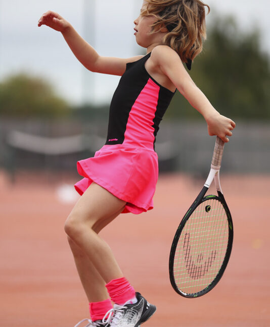 black girls tennis dress racerback zoe alexander uk ashleigh