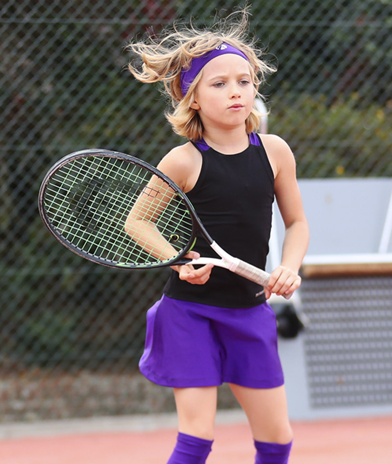 rafaela black purple violet racerback girls tennis dress zoer alexander uk
