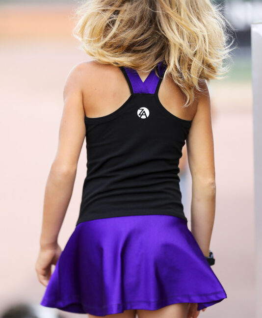 girls tennis dress black violet rafaela zoe alexander uk