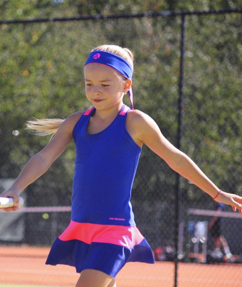 blue sophia girls tennis dress zoe alexander uk