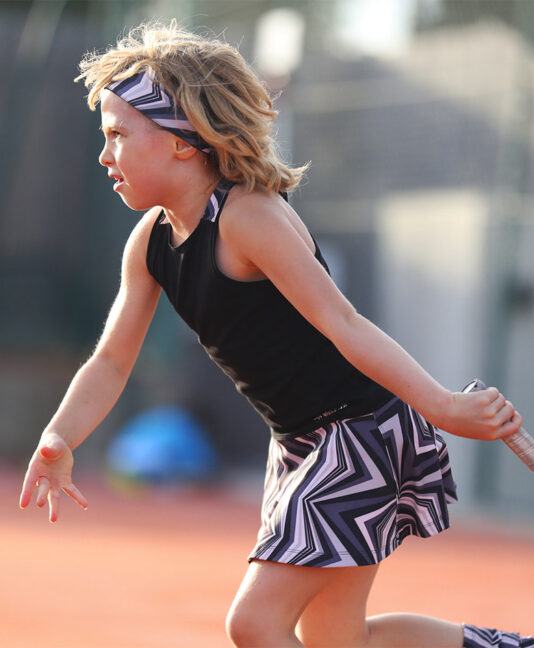 zigzag girls tennis dress zoe alexander monochrome print