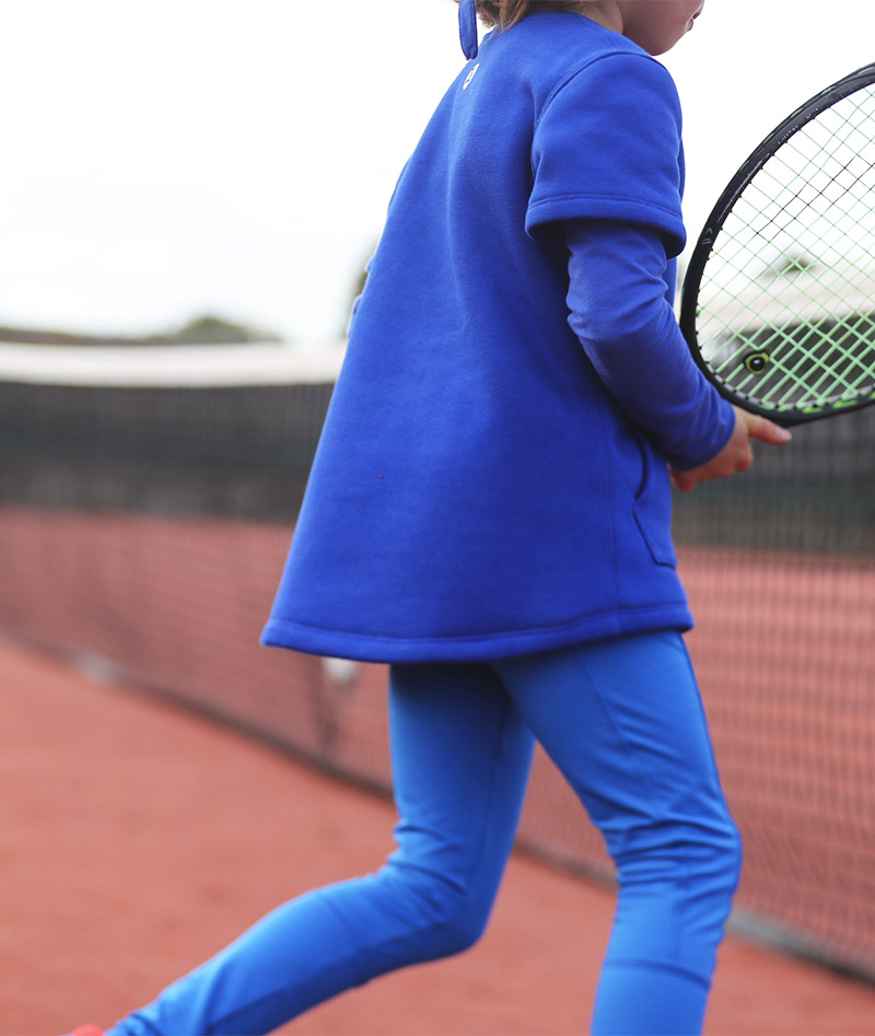 girls tennis polar fleece Zoe Alexander long sleeve training tops