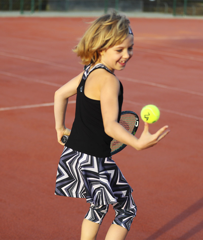 girls cropped tennis leggings capri pants zigzag zoe alexander uk