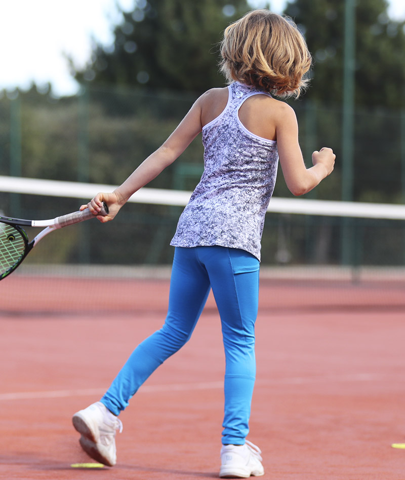 girls tennis fleece leggings ball pocket zoe alexander uk
