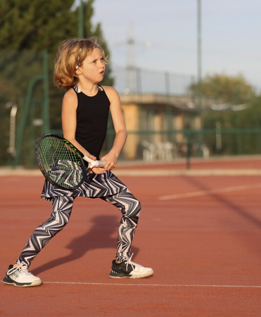 zigzag girls tennis leggings zoe alexander uk ball pocket