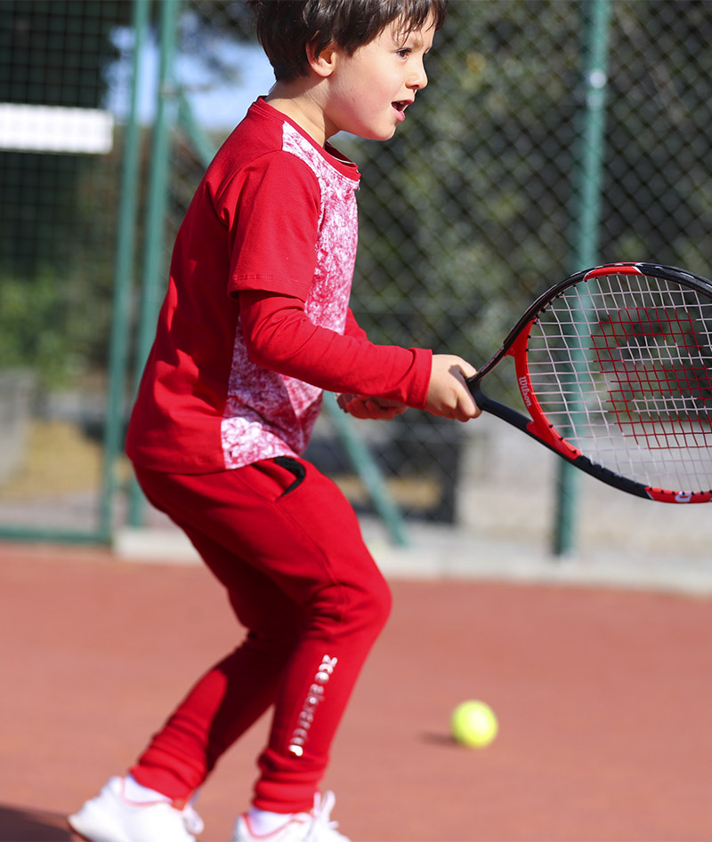 red tennis top boys zoe alexander uk