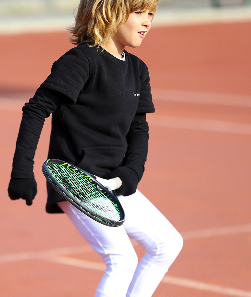 black polar fleece girls tennis clothes zoe alexander uk