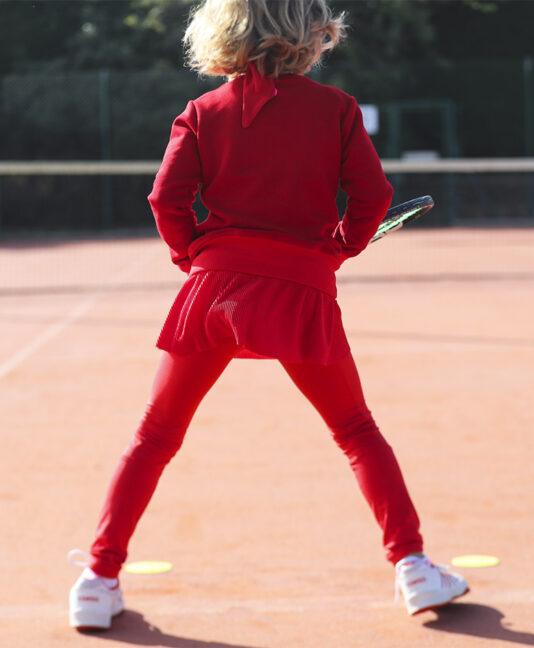 belinda red girls tennis sweatshirt zoe alexander training tops