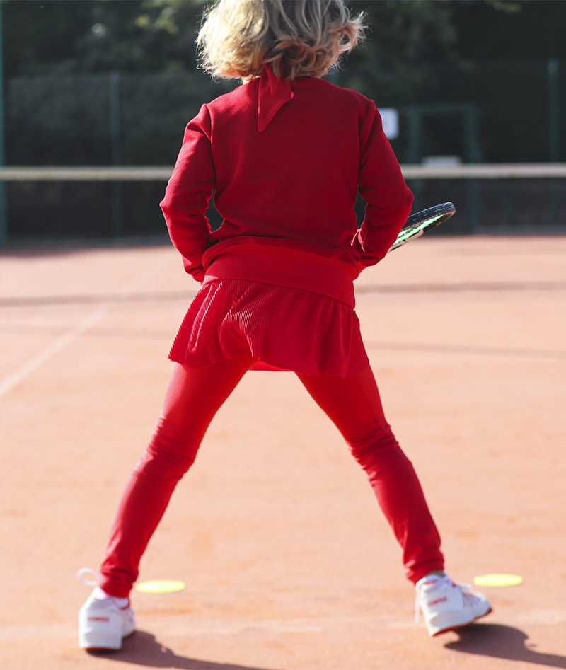 belinda red girls tennis sweatshirt zoe alexander training tops