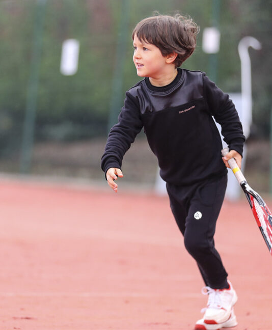jet black joggers boys tennis training top sweatshirt zoe alexander uk