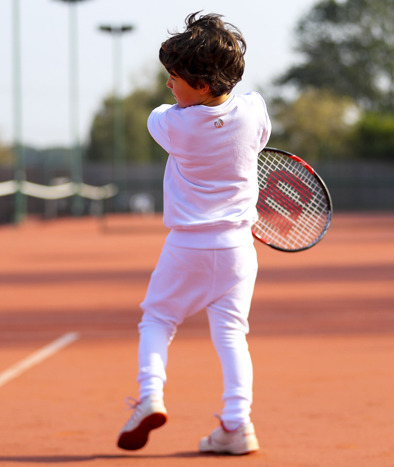 boys ice white tennis sweatshirt top zoe alexander uk