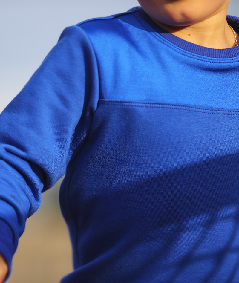 cool blue tennis sweatshirt top zoe alexander uk