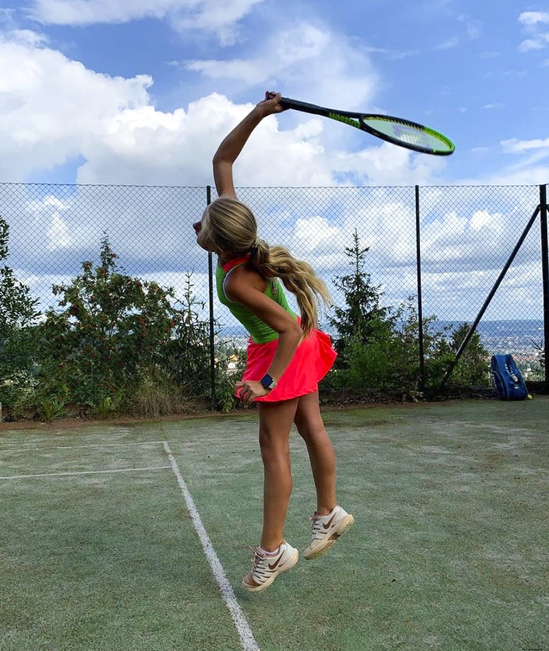 green girls tennis dress racerback kaycee zoe alexander uk
