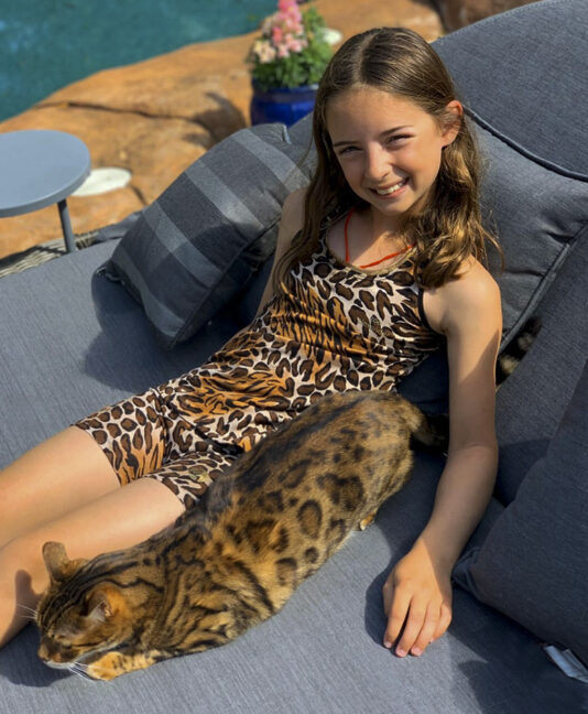 animal print jaguar girls tennis tank top vest by zoe alexander