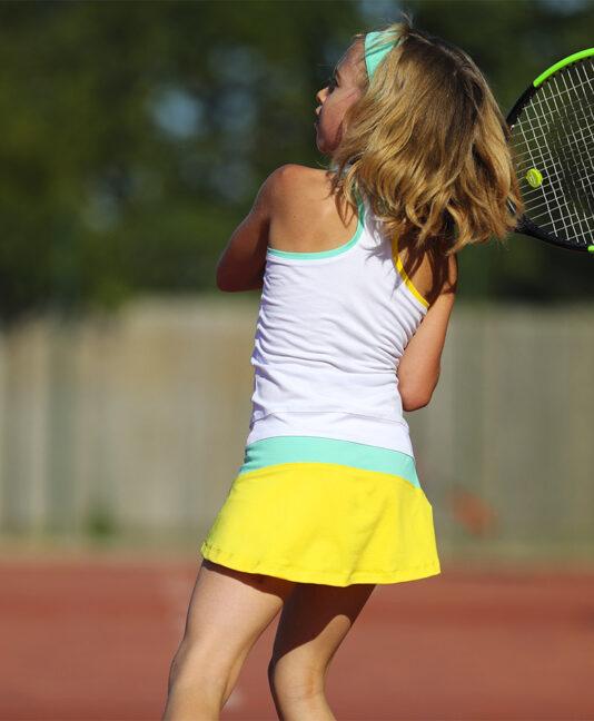 cool tropical mint girls tennis dress from zoe alexander uk