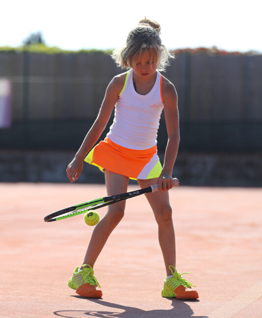 tropicana girls tennis dress white neon orange yellow zoe alexander uk