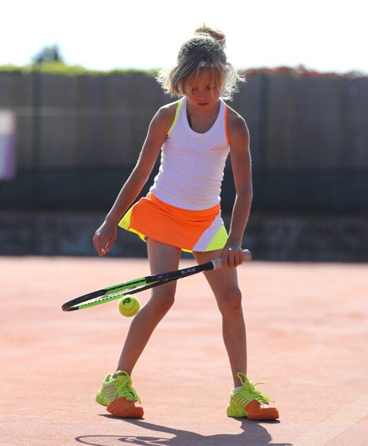 tropicana girls tennis dress white neon orange yellow zoe alexander uk