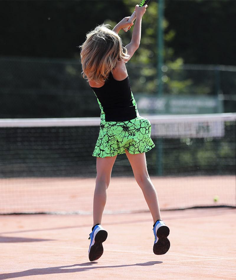 neon green girls tennis outfit zoe alexander