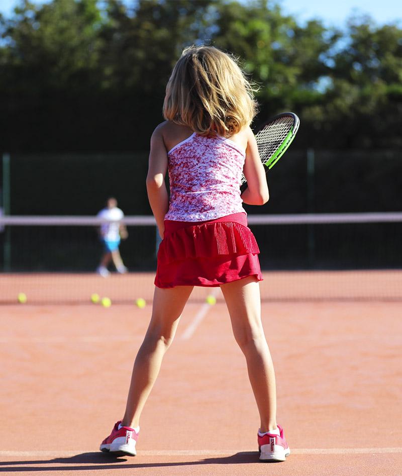 red ruffle pleated girls tennis skirt zoe alexander uk strawberry