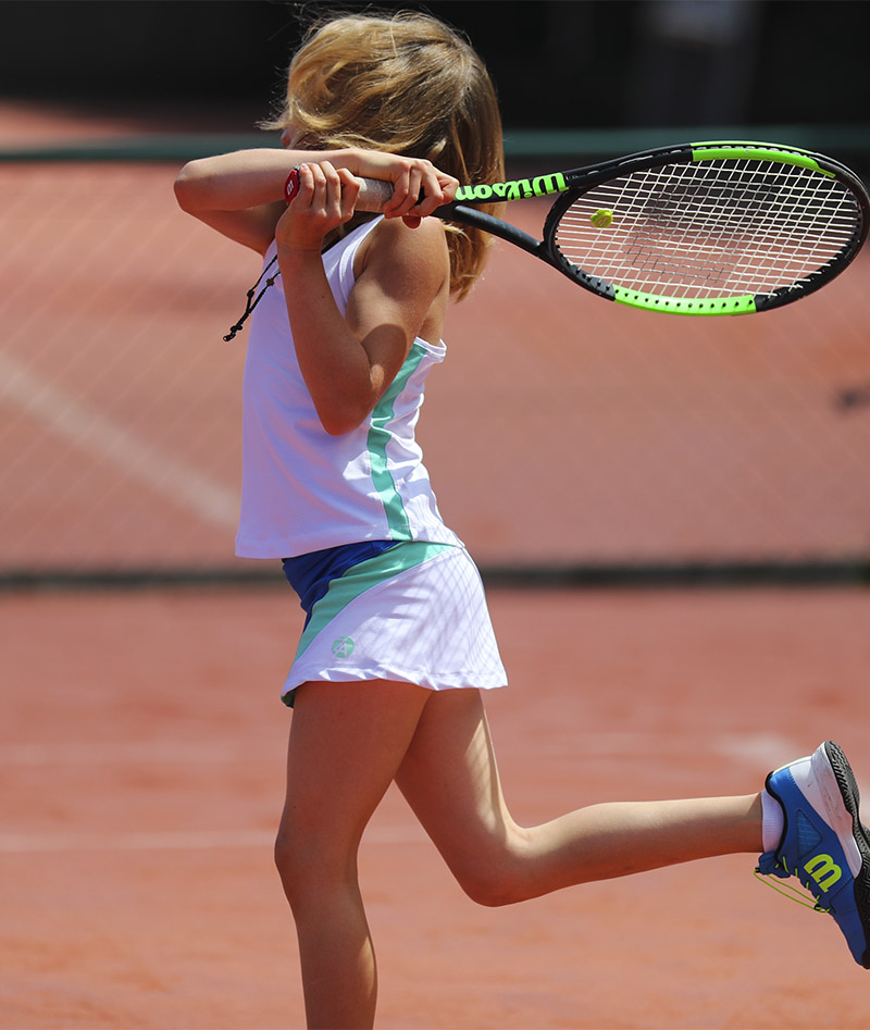 white mint green stripe tennis tank top for girls zoe alexander