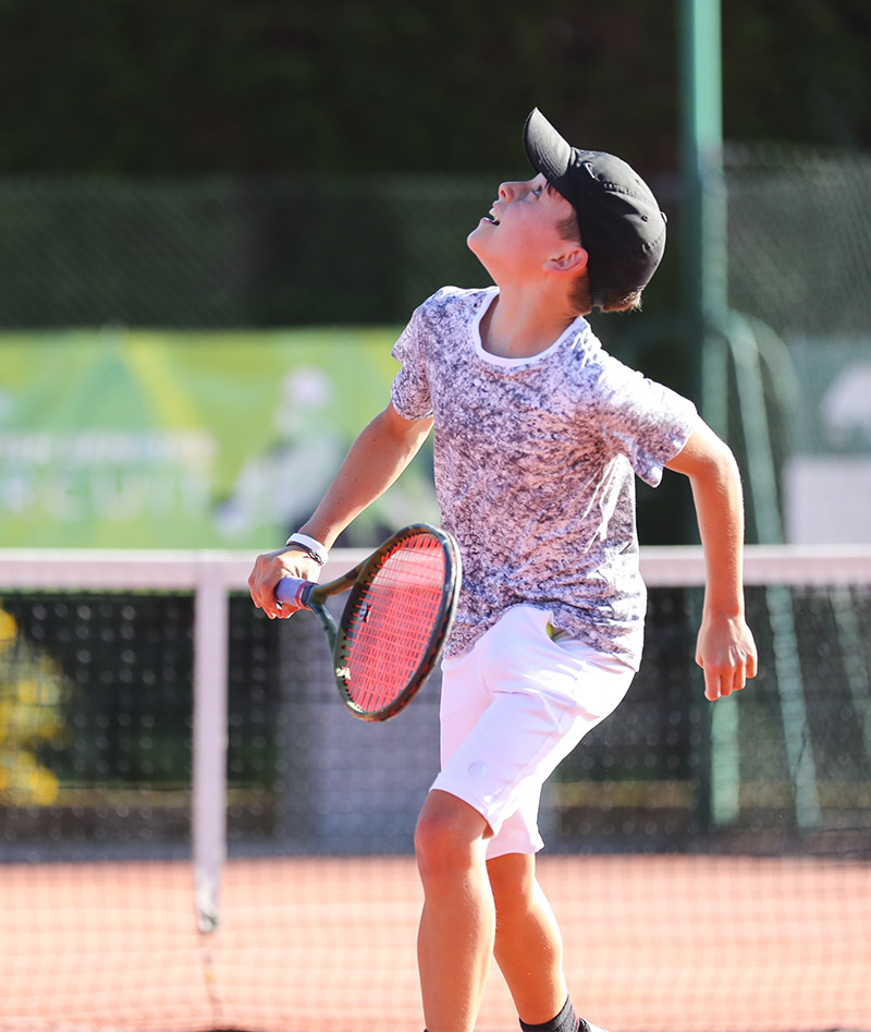 dominic cloud grey tennis tee shirt white shorts boys tennis kit zoe alexander uk