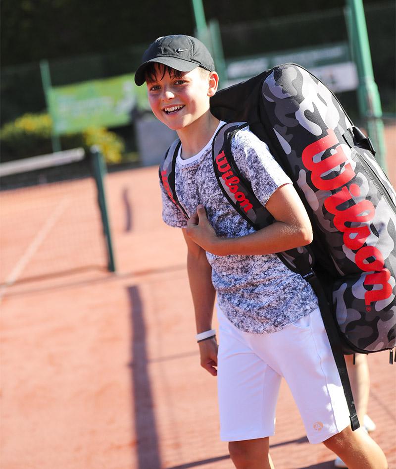 dominic cloud grey tennis tee shirt white shorts boys tennis kit zoe alexander uk