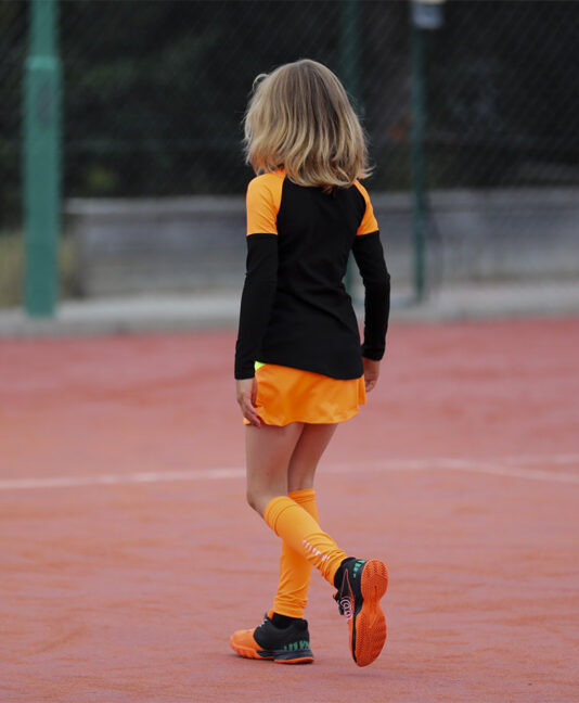 ivanna black girls long sleeve tennis training top zoe alexander uk
