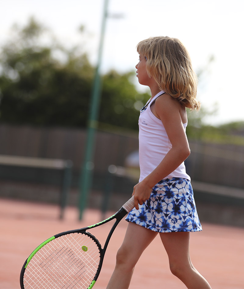 hex girls tennis outfit white tank top and hex a line tennis skirt zoe alexander uk