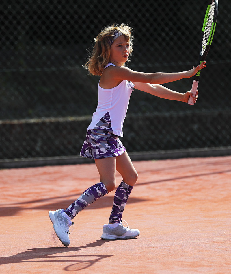 camo violet girls tennis skirt by zoe alexander uk