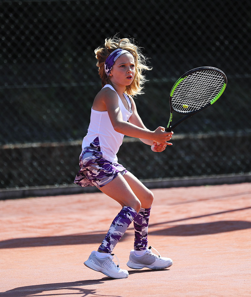 tennis tank top camo violet zoe alexander uk