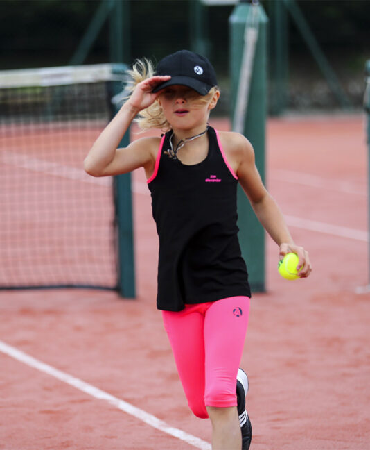 girls tennis tank top sapir black neon pink zoe alexander uk