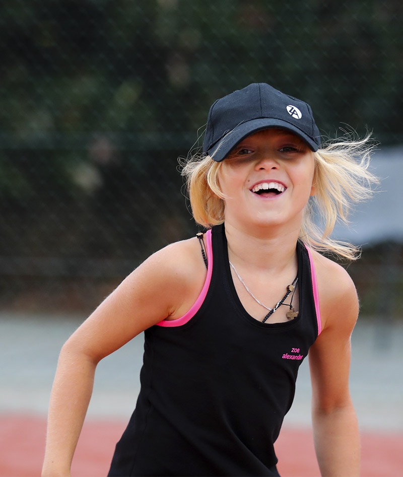 girls tennis tank top sapir black neon pink zoe alexander uk