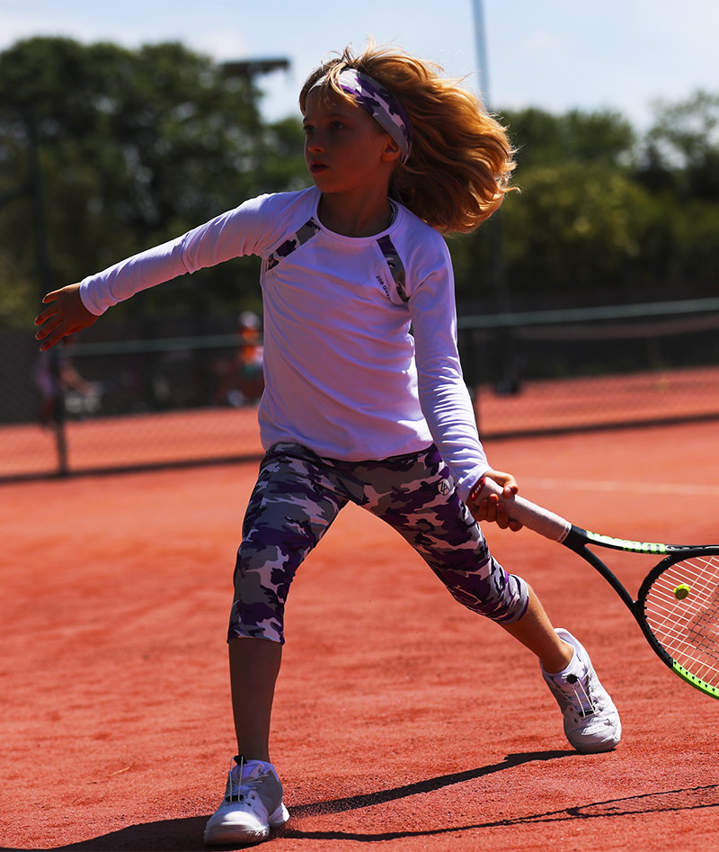camo violet long sleeve raglan tennis top zoe alexander uk