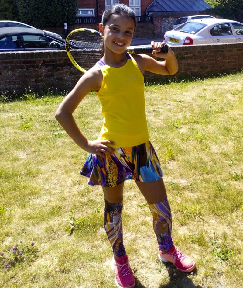 viviana yellow racerback tennis dress zoe alexander uk