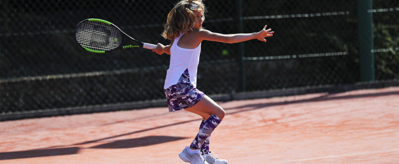 girls camo violet tennis top and skirt zoe alexander