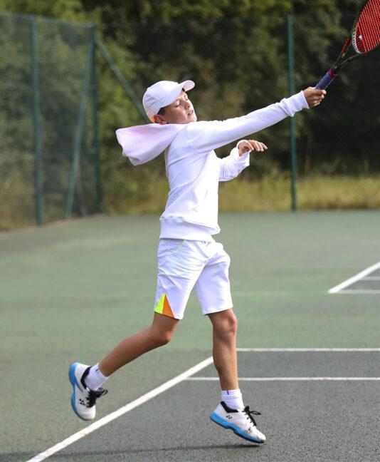 white sebastian boys tennis hoodie