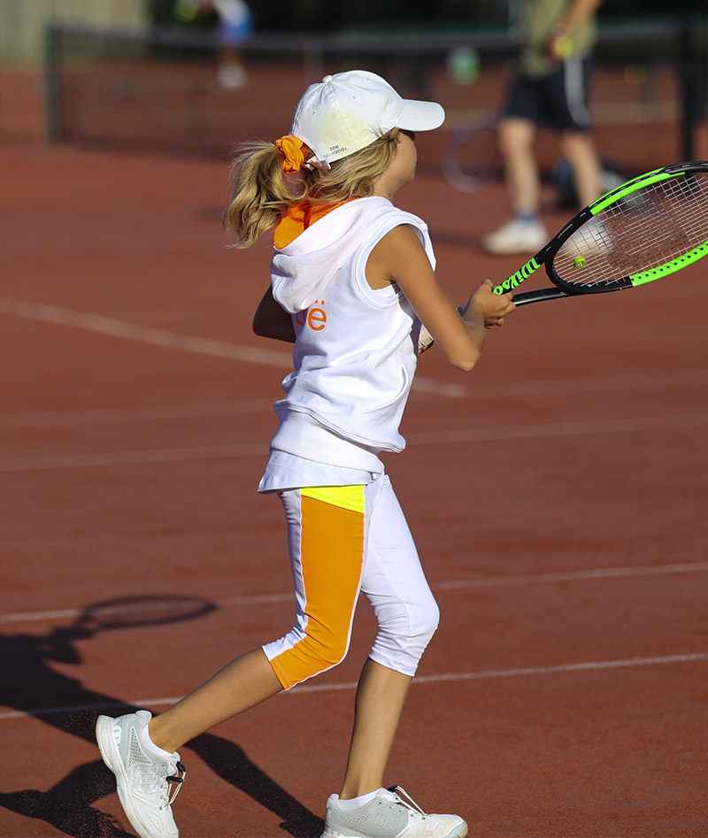 white sleevelss girls tennis hoodie tropicana zoe alexander uk
