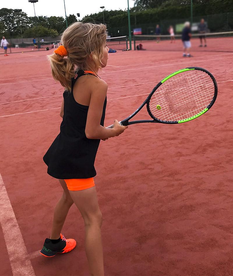 ivanna tennis tank top black orange zoe alexander