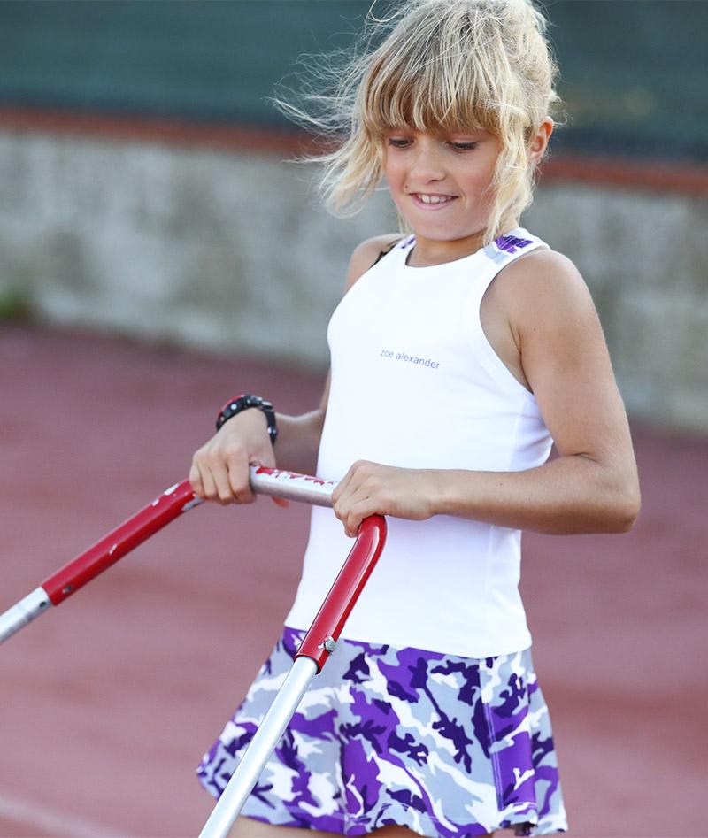 camo violet girls tennis dress zoe alexander uk