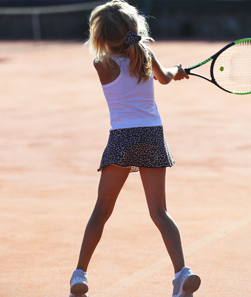 white cheetah animal print tennis dress zoe alexander